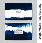 set of vector business card...   Shutterstock .eps vector #1094529887