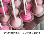 platter of cake pops with pink... | Shutterstock . vector #1094531045