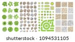set of park elements.  top view ... | Shutterstock .eps vector #1094531105