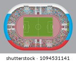 football stadium top view.... | Shutterstock .eps vector #1094531141