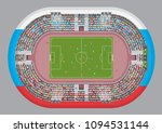 football stadium top view.... | Shutterstock .eps vector #1094531144