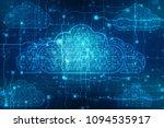 2d rendering cloud computing ... | Shutterstock . vector #1094535917