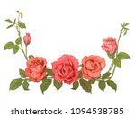 branches pink roses  bouquet... | Shutterstock .eps vector #1094538785