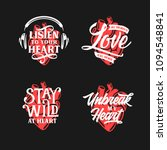 human heart typography set.... | Shutterstock .eps vector #1094548841