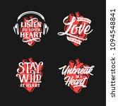 human heart typography set.... | Shutterstock .eps vector #1094548841