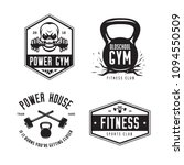 fitness gym sports club labels... | Shutterstock .eps vector #1094550509