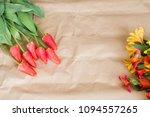 red tulips and alstroemeria....   Shutterstock . vector #1094557265