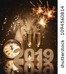new years eve celebration... | Shutterstock . vector #1094560814