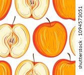 stylized apples seamless...   Shutterstock .eps vector #1094573051