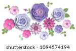 Paper Art  Summer Flowers On A...