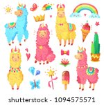funny fairytale cute mexican... | Shutterstock .eps vector #1094575571
