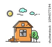 the house in the nature  a tree.... | Shutterstock .eps vector #1094577194