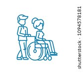 care for disabled people linear ... | Shutterstock .eps vector #1094578181