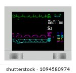 an anesthesia monitor shows... | Shutterstock . vector #1094580974