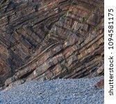 Small photo of Chevron folding in the strata Millook Haven North Cornish Coast