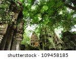 ruin of ta prohm temple ...   Shutterstock . vector #109458185