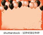 the horizontal blank halloween...   Shutterstock .eps vector #1094581949