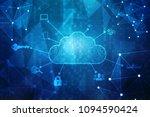 2d rendering cloud computing ... | Shutterstock . vector #1094590424