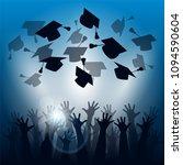 happy students throwing...   Shutterstock . vector #1094590604