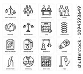 set of 16 simple editable icons ... | Shutterstock .eps vector #1094593649