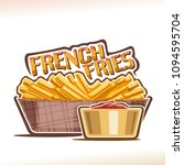 vector logo for french fries ... | Shutterstock .eps vector #1094595704