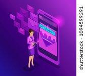isometric business women look... | Shutterstock .eps vector #1094599391