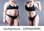 woman's body before and after... | Shutterstock . vector #1094605094
