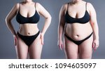 woman's body before and after... | Shutterstock . vector #1094605097