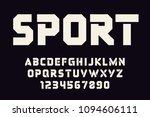 geometric sport font modern... | Shutterstock .eps vector #1094606111