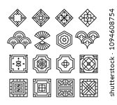 asian ornament icon  korean ... | Shutterstock .eps vector #1094608754