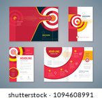 cover book design set  abstract ... | Shutterstock .eps vector #1094608991
