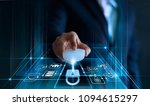 data protection concept. gdpr.... | Shutterstock . vector #1094615297