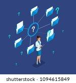 isometric girl leader ... | Shutterstock .eps vector #1094615849