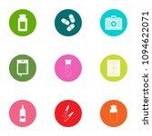 medication icons set. flat set... | Shutterstock .eps vector #1094622071