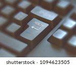 close up on enter button... | Shutterstock . vector #1094623505