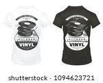 retro music equipment prints on ... | Shutterstock .eps vector #1094623721