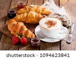 breakfast with cup of...   Shutterstock . vector #1094623841