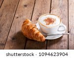 cup of cappuccino coffee with... | Shutterstock . vector #1094623904