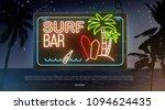 summer beach evening background ... | Shutterstock .eps vector #1094624435