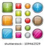 set of vector glossy buttons... | Shutterstock .eps vector #109462529