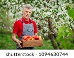 farmer with freshly harvested... | Shutterstock . vector #1094630744
