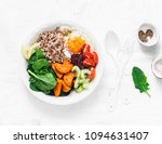 full bowl healthy food  ... | Shutterstock . vector #1094631407