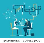 businessman and robot having a... | Shutterstock .eps vector #1094631977