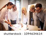 creative business team having... | Shutterstock . vector #1094634614