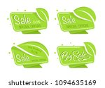 green eco tag | Shutterstock .eps vector #1094635169