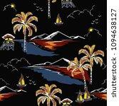 beautiful hawaiian seamless... | Shutterstock .eps vector #1094638127