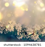 abstract floral background with ... | Shutterstock . vector #1094638781