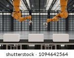3d rendering robot arms with... | Shutterstock . vector #1094642564