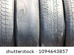 worn out bald old car tire... | Shutterstock . vector #1094643857