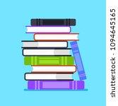 pile stuck of books icon....   Shutterstock .eps vector #1094645165
